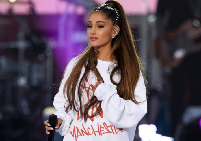Ariana Grande sends her love to Manchester