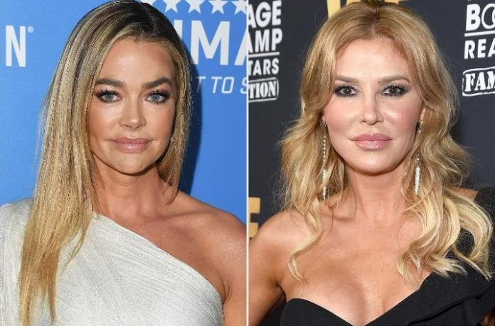 Denise Richards is claiming Brandi Glanville told her that she's had sex with another woman in The Real Housewives of Beverly Hills group.