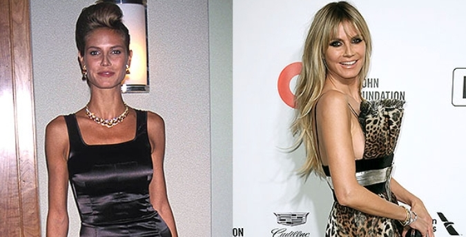 What a transformation! Let's have a look Heidi Klum's career from her mid-20's modeling days, through to her current 'AGT' judging gig.